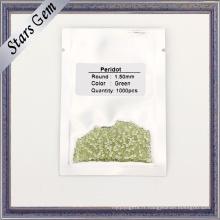1.5mm petite taille pierre péridot naturelle verte