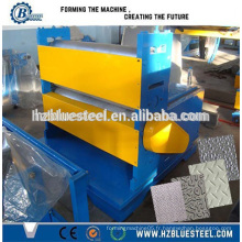 Machine à gaufrage feuille à feuille en acier inoxydable en métal, en acier inoxydable, en acier gaufré en acier glavanisé