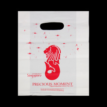 Custom Logo Die Cut Plastic Shopping Bag