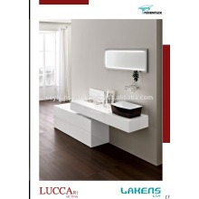 New Modern Design Batroom Vanity Glossy Lacquered Drawer Cabinet and Countertop