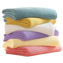 Фабрика оптовые 100 хлопок окрашенная Пряжа лено одеяло