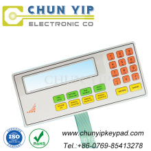 Clear LCD window touch membrane switch keypad
