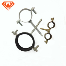 single &double ring size14/18/22/28/32/40/50 carbon steel pipe clamp without rubber