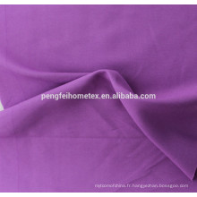 Tissu imprimé 100% polyester en tissu brossé / peau de pêche