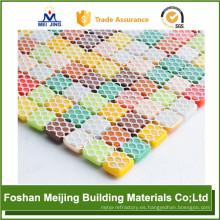 el mejor soporte de malla de plástico de mosaico de malla hexagonal de precio