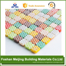 best price hexagonal mesh mosaic plastic mesh backing