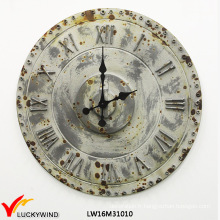 Qualité Chic Décoration rétro Horloge promotionnelle en métal