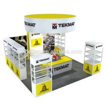 A cabine da exposição da exposição do tradeshow da oferta de Detian 6x6m está com prateleira