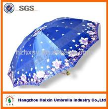 China-Damen-Mode 3 faltender Satin-Regenschirm in Bangladesch