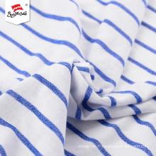 Tissu doux personnalisé à rayures en polyester à la main