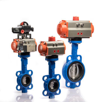 Stainless Steel Material Pneumatic 4 Inch Butterfly Valve