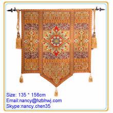 Barra de tapeçaria pequena, decoração interior parede tapete de tapeçaria, haste de tapeçaria tecida