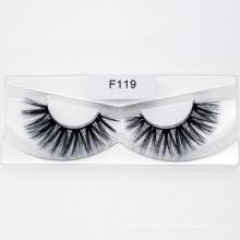 3D 5D Eyelash Strip False Silk Synthetic Eye Lashes Custom Packaging Box Faux Mink Eyelashes