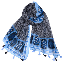 Cheap factory price foreign trade geometric pattern design luxury travel scarf thailand