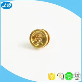Lathe machining metal brass nozzle plug