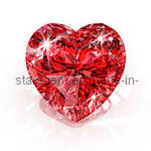 Brilhante Coração Forma CZ Gemstones Pedra
