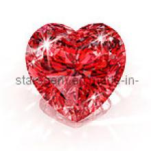 Блестящая форма сердца CZ Gemstones Stone