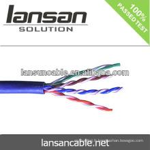 Câble Cat5e Câble réseau UTP CCA 4pair 26AWG 0.4mm qualité et prix d'usine