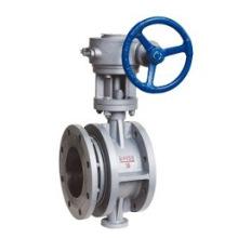 Turbine drive flange expansion butterfly valve