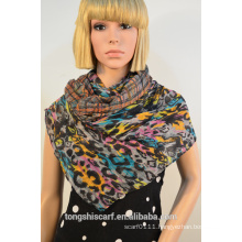 polyester triangle printed scarf 297-01 HD296
