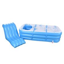 Cojín inflable portátil en forma de L para bañera de hidromasaje