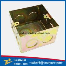 Boîte électrique en métal faite sur commande avec le zinc de couleur