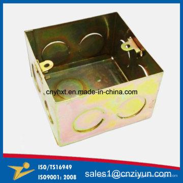 Caja eléctrica metálica personalizada con color de zinc