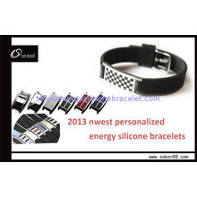 Personalize And Colorful Wrist Power Balance Silicone Bracelet Suit For Parties, Wedding