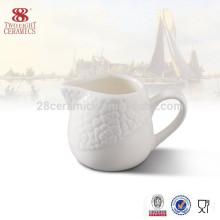 Jarro de leite de cerâmica chaozhou atacado, porcelana desnatadeira de café