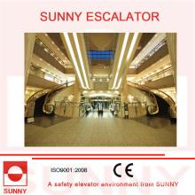 Spirale d'escalator incurvée / escalator hélicoïdal pour le centre commercial et les bâtiments commerciaux