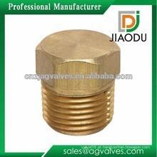 1 polegada ou 1/2 polegada ou 3/4 de polegada de polegada de boa qualidade forjados latão parafuso tubo plug montagem