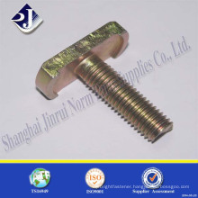 zinc plated carbon steel t type head bolt