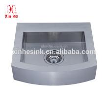 Lavabo del baño del acero inoxidable 304, lavabo comercial modificado para requisitos particulares