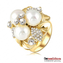 Three Pearl Women Cluster Ring (Ri-HQ0066)