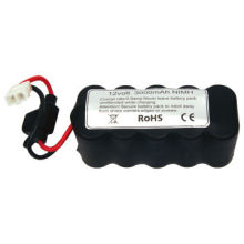 NiMH Battery Pack, 12V 3,000mAh with Tamiya Connector and 20A Fuse for Robot Products