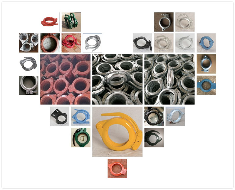 All Kinds of Concrete Pump Clamp Couplings