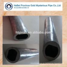 Laminado a frio Oval plano especial em forma de tubos de aço carbono e tubos