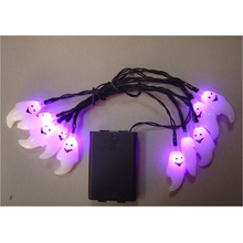 LED light with Halloween decoration by battery operate