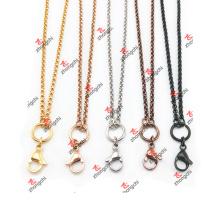 Personalizado de bloqueo / encantos / colgante de acero inoxidable collar de cadena Rolo (CSC60103)