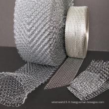 Maille métallique tricotée au gaz
