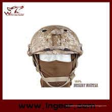 Vente chaude militaire Camouflage casque tactique marine Pj casque avec visière