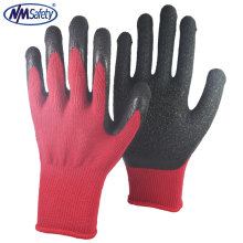NMSAFETY 10 gauge latex coated gloves cotton gloves working safety security auto-mechanic worker using gloves good quality