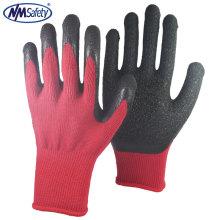 NMSAFETY 10 gauge látex revestido luvas de algodão luvas de segurança de trabalho de segurança auto-mecânico trabalhador usando luvas de boa qualidade