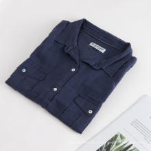Женская весенняя блузка с короткими рукавами из 100% льна