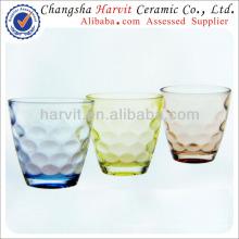 2014 Vente en gros de tasses en verre / China Housewares Coupe en verre en verre gaufré