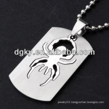 stainless steel spider men cool pendants