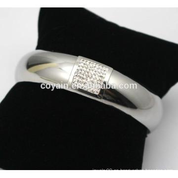 Brazalete de diamantes de imitación brazaletes joyas de plata brillante brazaletes de diamantes de imitación