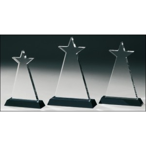 Unique Star Shape Clear K9 Crystal Star Award Trophy
