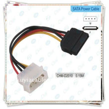 Adaptador de disco duro IDE a SATA Cable de alimentación