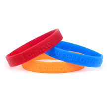 2016 Custom Custom Силиконовые наручные браслеты для спорта